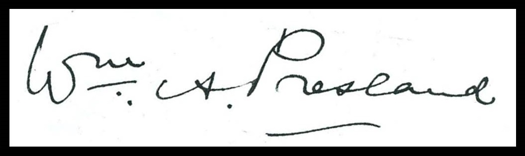 William Alfred Presland's signature