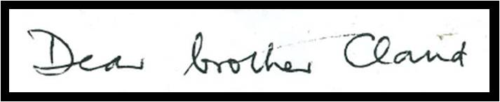 Brian Kingslake's hand writing